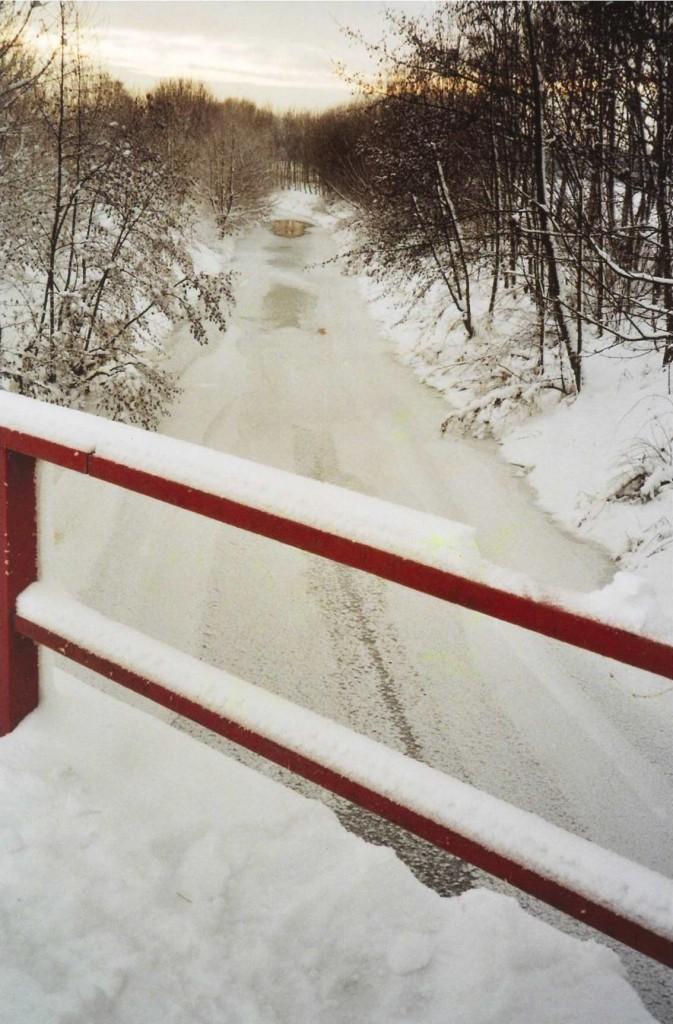 Blick von der Pleißebrücke im Winter 2010