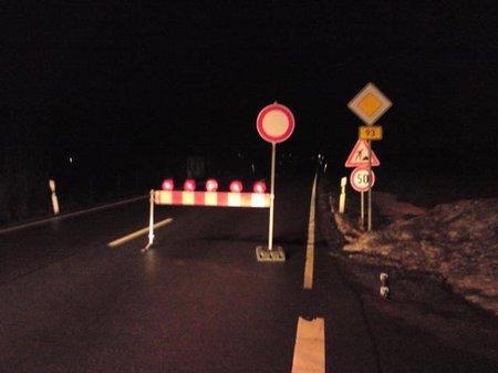 Straßensperrung B 93 am 08.01.2011