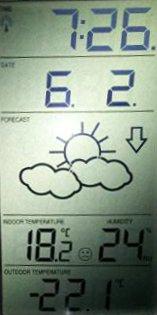 -22,1 Grad Celsius