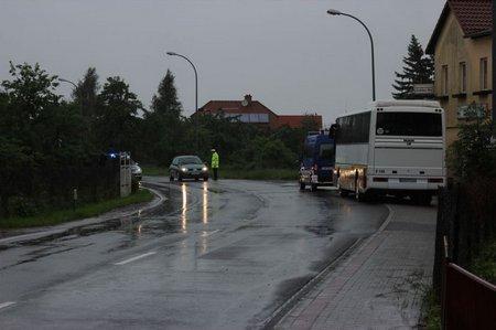Bus steht für die Evakuierten bereit
