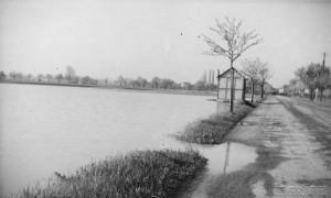 Blick nach Treben bei Hochwasser 1954